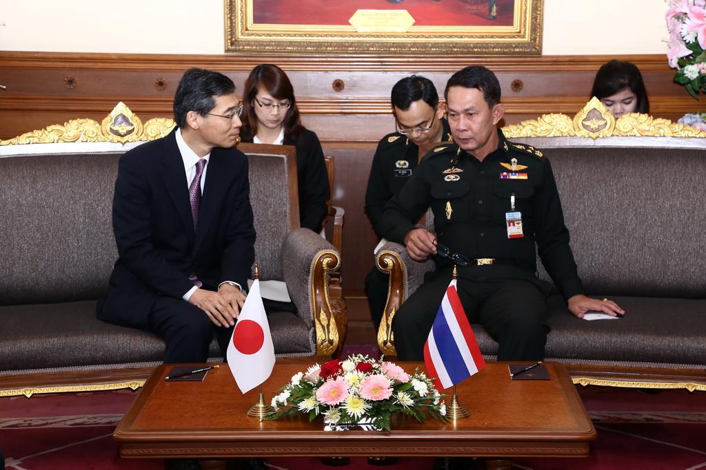 ผช.รมว.กระทรวงป้องกันประเทศญี่ปุ่น ด้านกิจการต่างประเทศ เข้าเยี่ยมคำนับ ปล.กห.