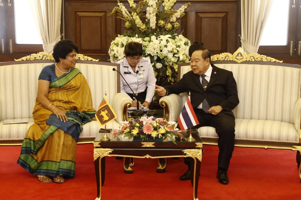เอกอัครราชทูตสาธารณรัฐสังคมนิยมประชาธิปไตยศรีลังกาประจำประเทศไทย เข้าเยี่ยมคำนับ รอง นรม. และ รมว.กห.