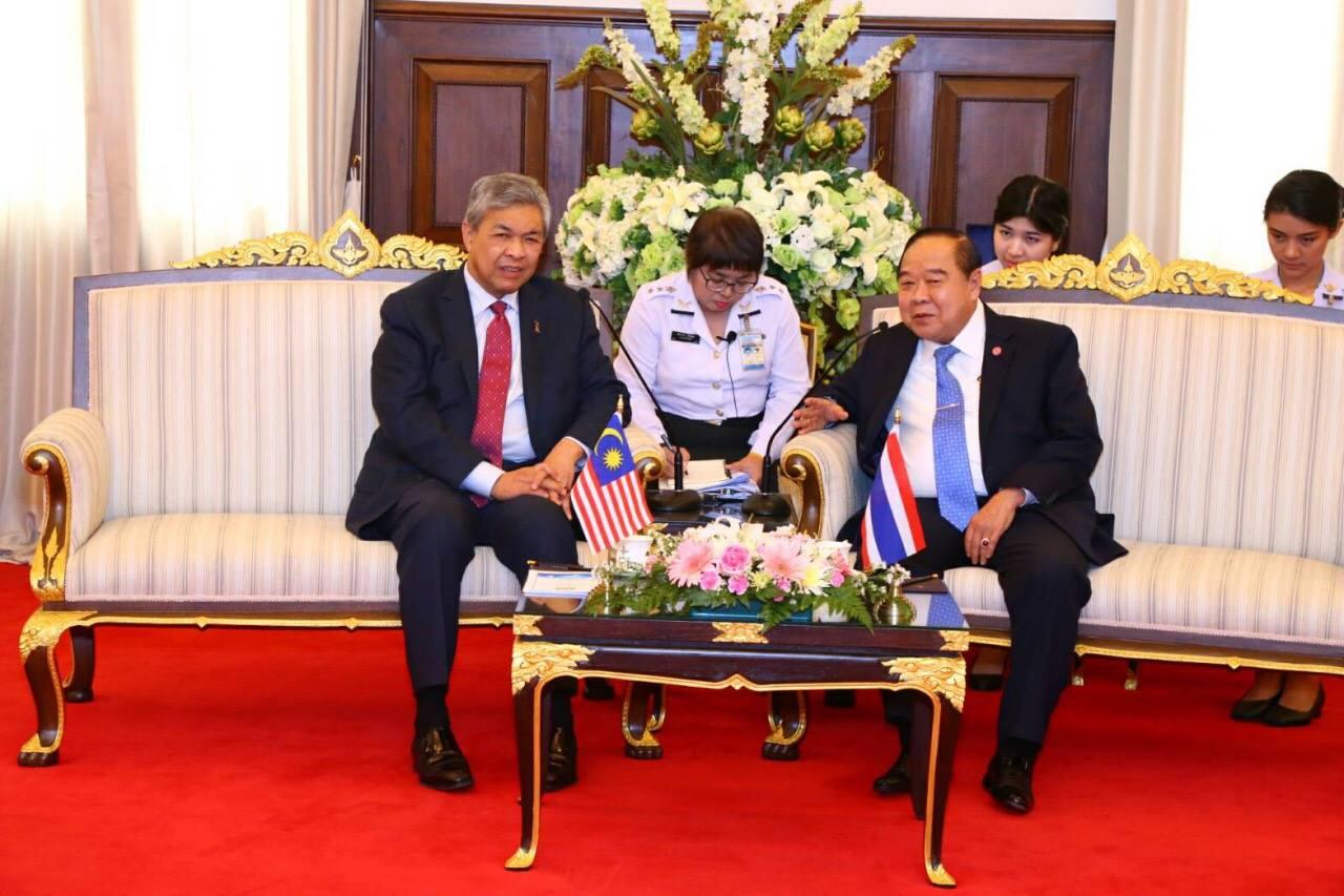 รองนายกรัฐมนตรี และรัฐมนตรีว่าการกระทรวงมหาดไทยมาเลเซีย เข้าเยี่ยมคำนับและหารือความมั่นคงร่วมกับ รองนายกรัฐมนตรีและรัฐมนตรีว่าการกระทรวงกลาโหม