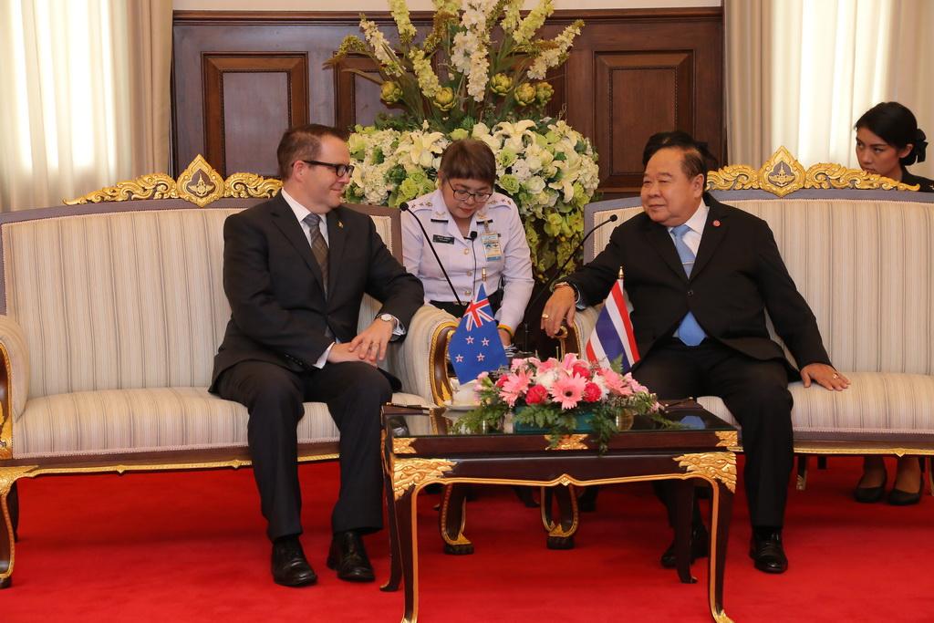 เอกอัครราชทูตนิวซีแลนด์ ประจำประเทศไทย เข้าเยี่ยมคำนับ รอง นรม. และ รมว.กห.