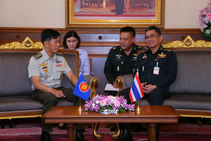 ประเทศสมาชิกอาเซียนประจำกรุงเทพฯ จำนวน 9 ประเทศ เข้าเยี่ยมคำนับ ปล.กห.