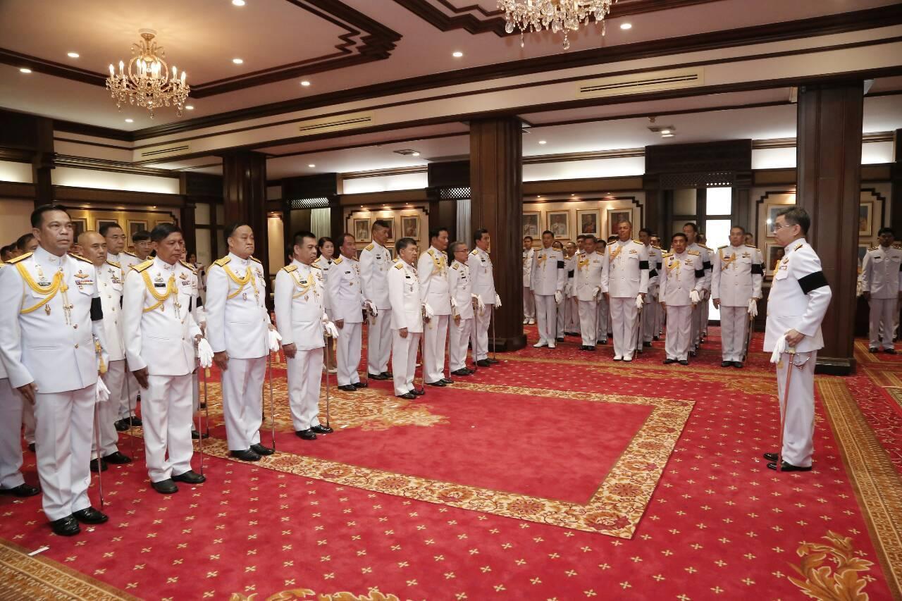 พิธีแสดงความยินดีแก่นายทหารสัญญาบัตรที่ได้รับพระราชทานยศทหารชั้นนายพล ประจำปีงบประมาณ ๒๕๖๐ ครั้งที่ ๒ (เมษายน ๒๕๖๐) และพิธีรายงานตัวของนายทหารสัญญาบัตรที่ได้รับพระกรุณาโปรดเกล้าฯ ย้ายเข้ามารับราชการในสำนักงานปลัดกระทรวงกลาโหม