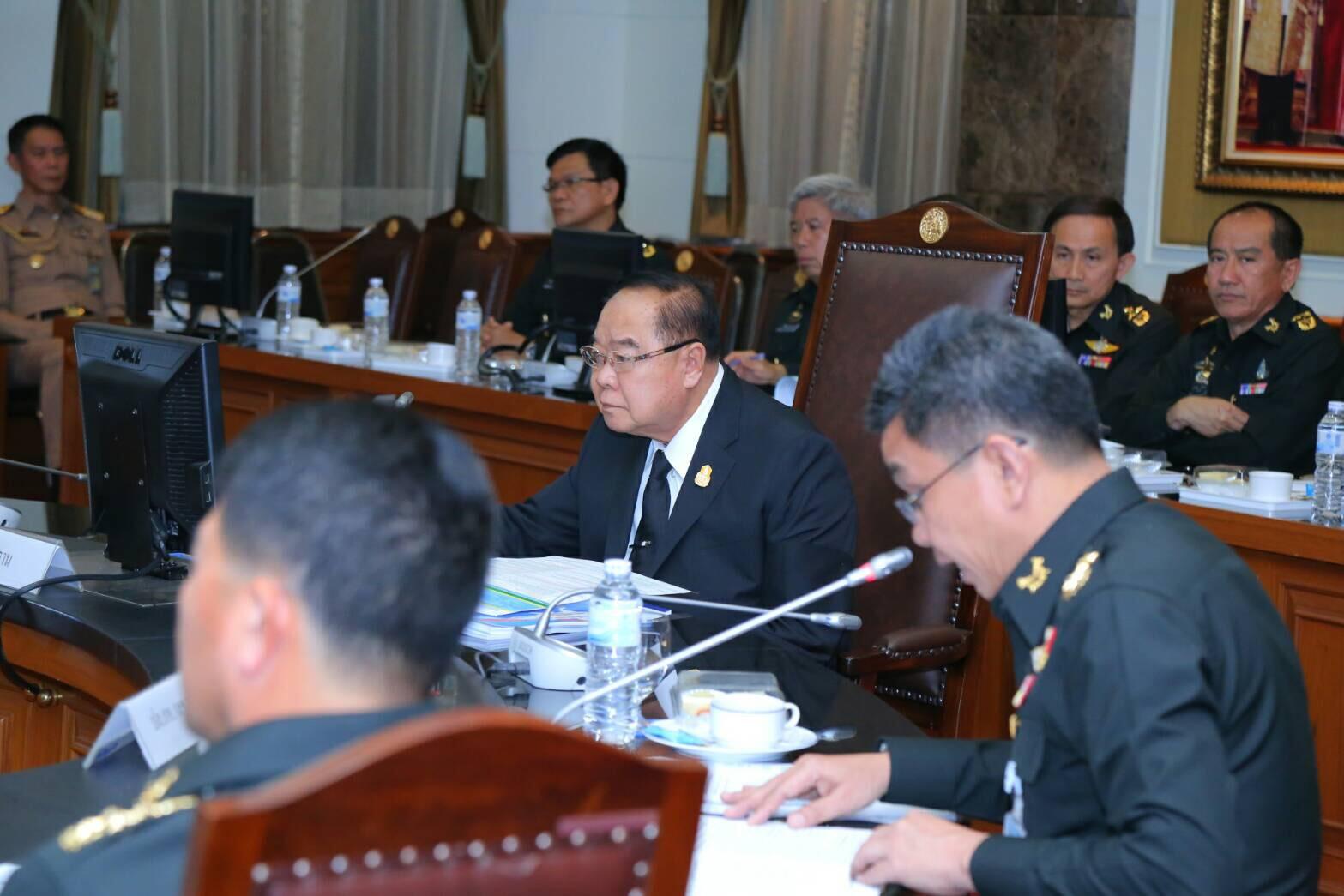 พลเอก ประวิตร วงษ์สุวรรณ รองนายกรัฐมนตรี/รัฐมนตรีว่าการกระทรวงกลาโหม เป็นประธานการประชุมคณะกรรมการเตรียมการเพื่อสร้างความสามัคคีปรองดอง