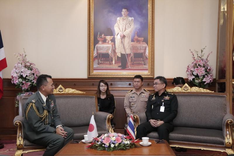 พ.อ. Kenchiro Kinoshita ผู้ช่วยทูตทหารญี่ปุ่น ประจำประเทศไทย เข้าเยี่ยมคำนับ พลเอก ชัยชาญ ช้างมงคล ปลัดกระทรวงกลาโหม