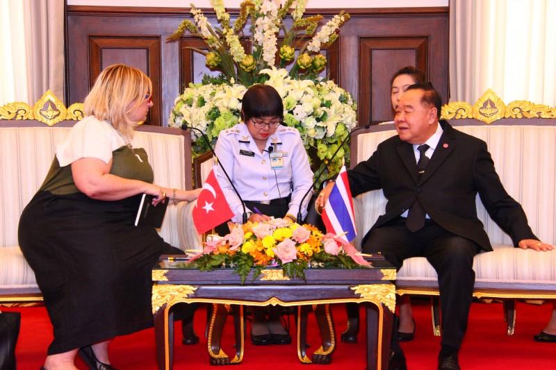 รอง นรม. และ รมว.กห. ให้การต้อนรับ เอกอัครราชทูตสาธารณรัฐตุรกีประจำประเทศไทย