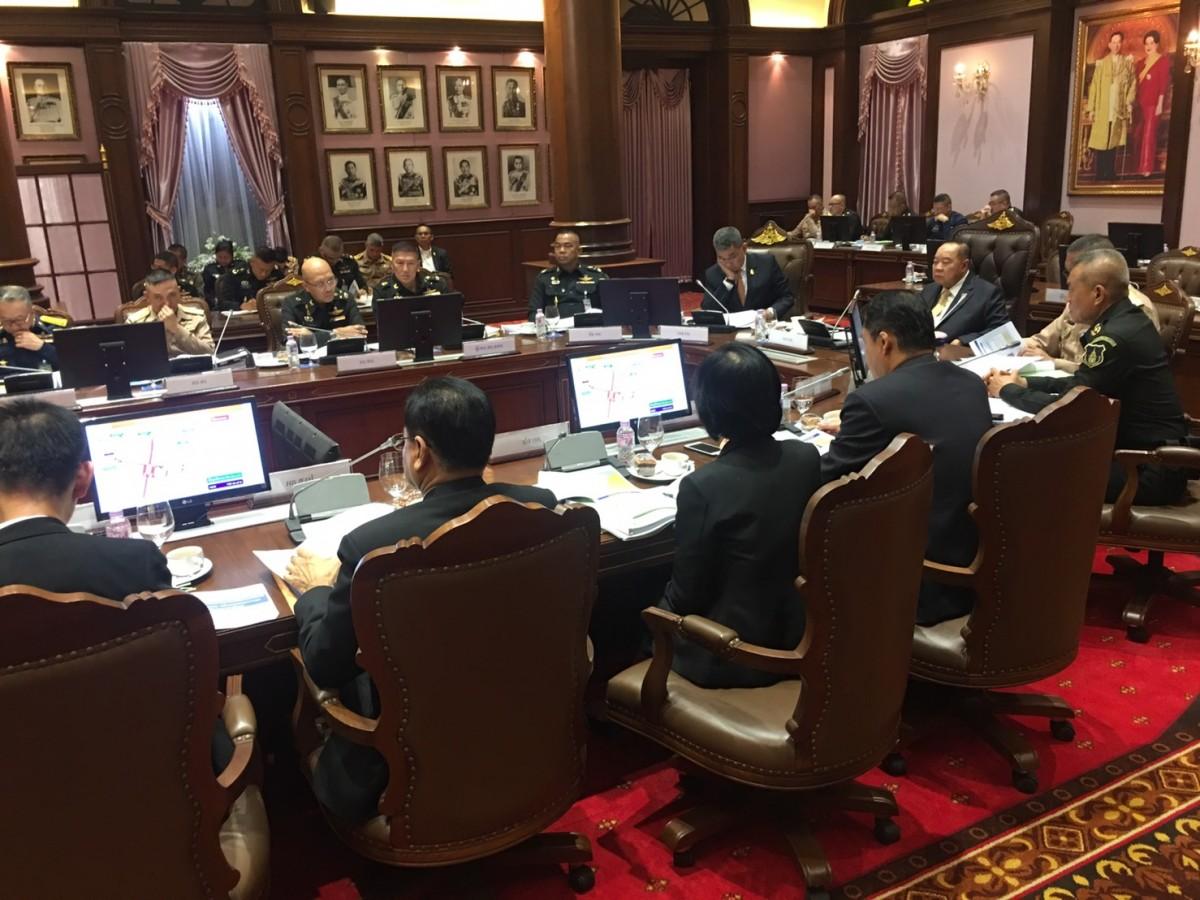 รอง นรม. และ รมว.กห. ประชุมเตรียมความพร้อมดูแลรักษาความปลอดภัยและอำนวยความสะดวกประชาชน งานพระราชพิธีบรมราชาภิเษก
