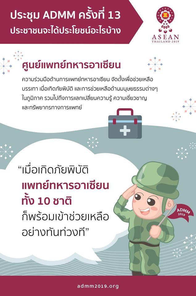 รู้หรือไม่? ว่าศูนย์แพทย์ทหารอาเซียน มีศูนย์กลางอยู่ที่ประเทศไทย